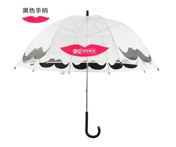 鸟笼伞创意公主伞透明雨伞 超拱阿波罗伞日本 可爱儿童蘑菇伞